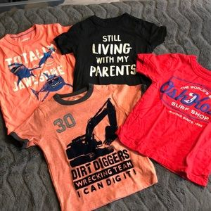 Set of 4- boys graphic t-shirts